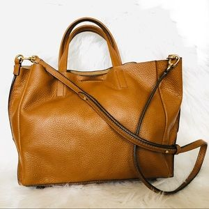 Banana Republic Portfolio Italian Leather Tote Bag